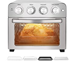 Schloß Air Fryer, 24Qt Toaster Oven, Multifunctional Convection Airfryer, Rotisserie & Dehydrator, 7 Presets Fry, Roast, Broi