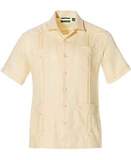 Cubavera - Camisa de manga larga para hombre, diseño tradicional cubano de Guayabera - Blanco - Medium: Amazon.es: Ropa y accesorios