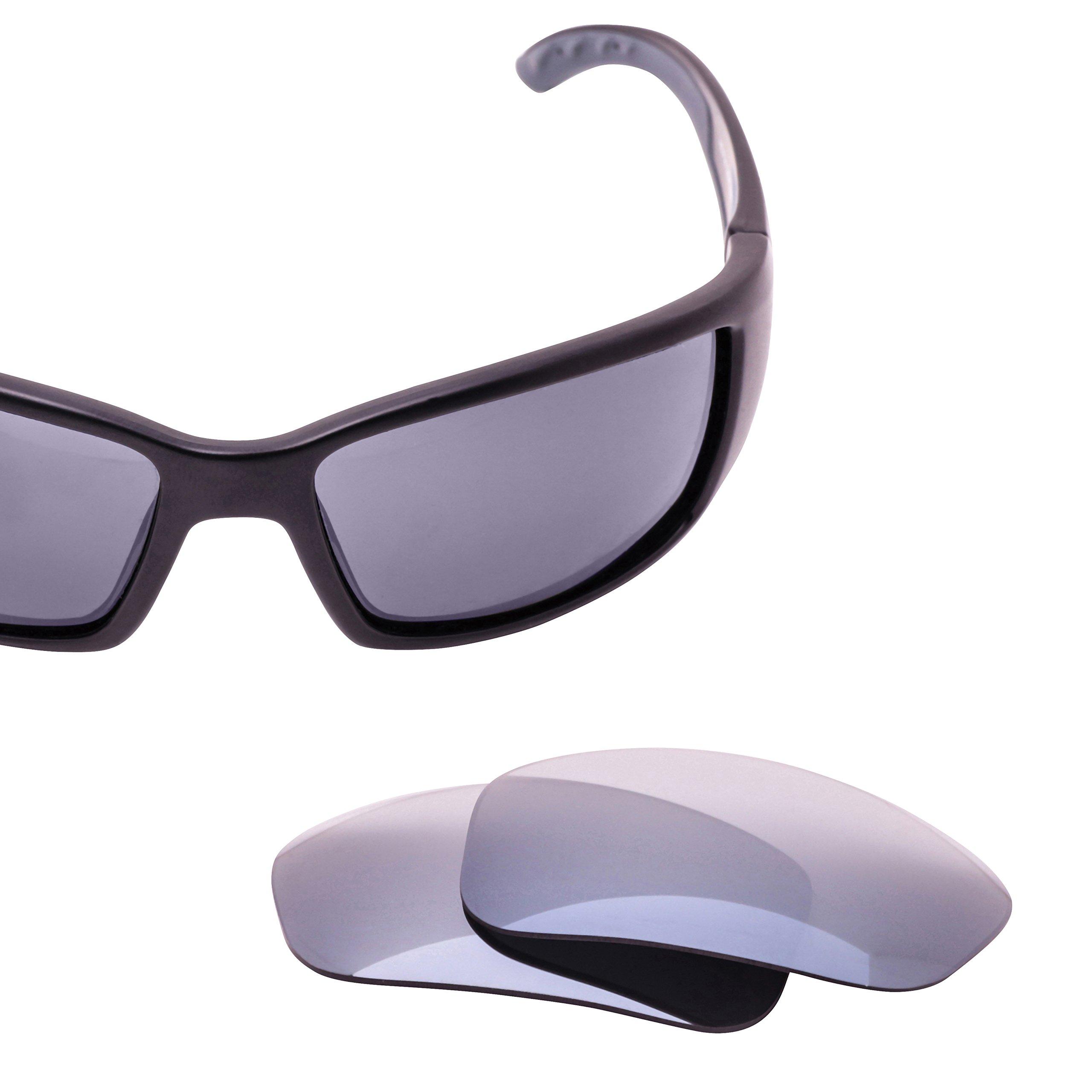 LenzFlip Replacement Lenses for Costa Del Mar BLACKFIN Sunglass- Gray Polarized with Silver Mirror Lenses