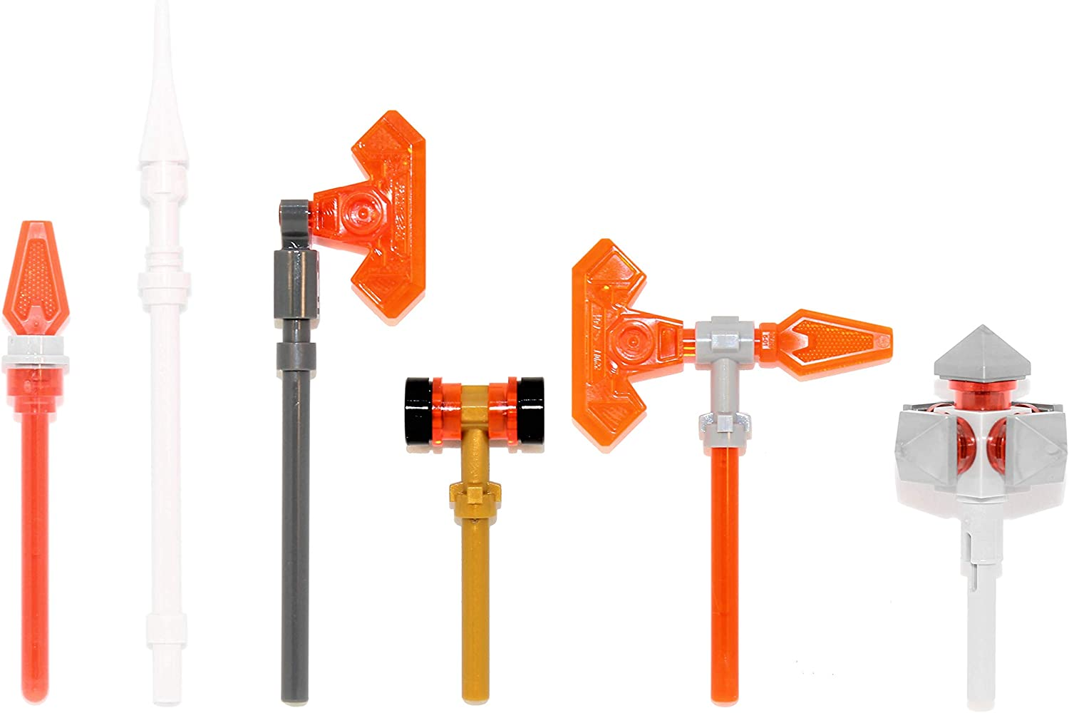 LEGO Nexo Knights Weapons Pack (Spears, Axes, Hammer, Mace)