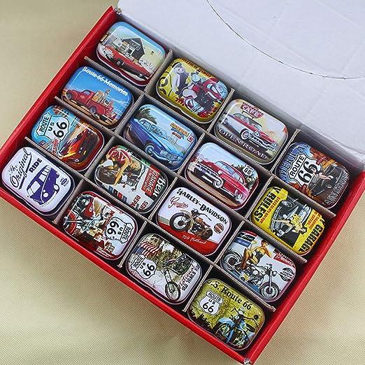 Lunji. 1 Caja de Metal pequeña para Guardar Las Cuentas Candy ...