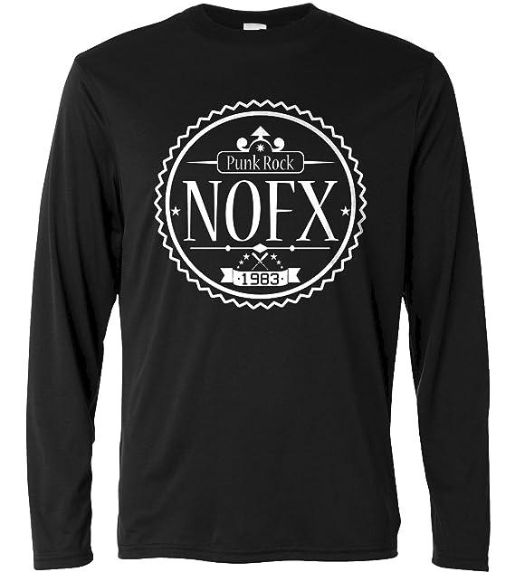 LaMAGLIERIA Camiseta de Manga Larga Hombre - NOFX - Long Sleeve Punk Rock 100% algodòn: Amazon.es: Ropa y accesorios
