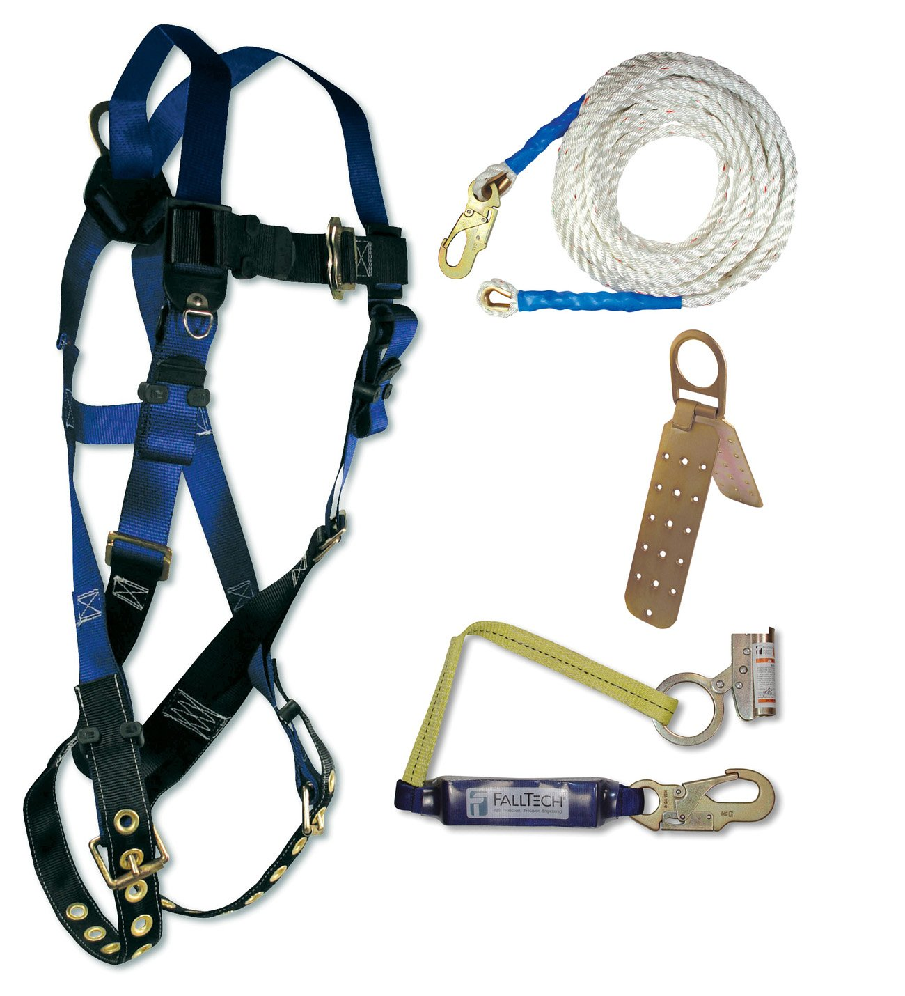 FallTech 7595A Contractor Harness with Roofer's Kit, Universal Fit - Fall  Arrest Safety Harnesses - Amazon.com