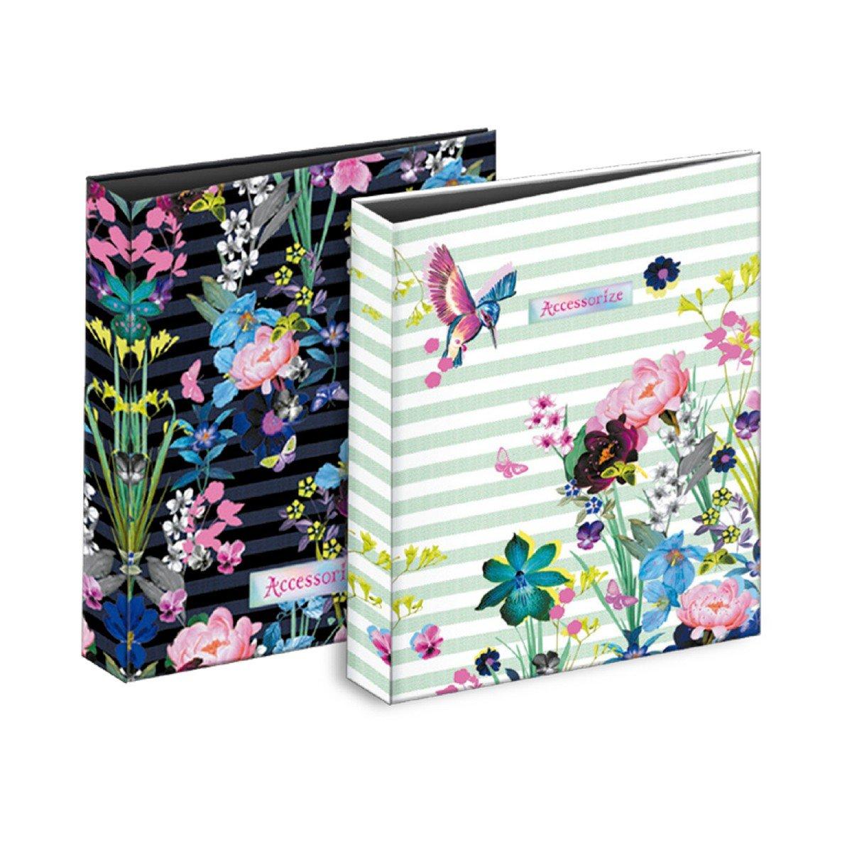 Carpeta Archivador ACCESORIZE Flores, Folio 4 Anillas 35 mm.: Amazon.es: Oficina y papelería