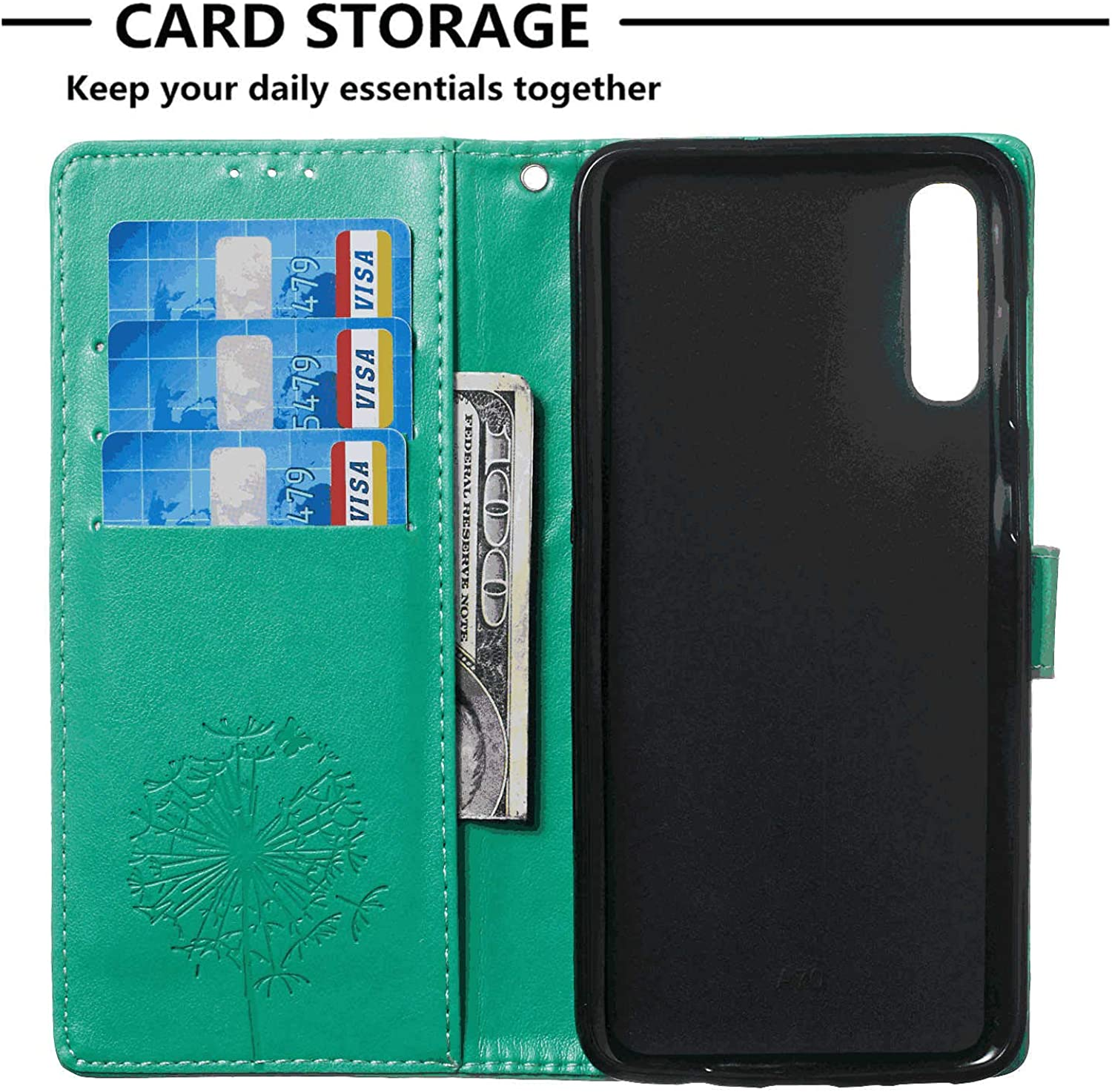 iPhone Xs Max Flip Case Cover for Leather Card Holders Kickstand Cell Phone Cover Extra-Shockproof Business Flip Cover