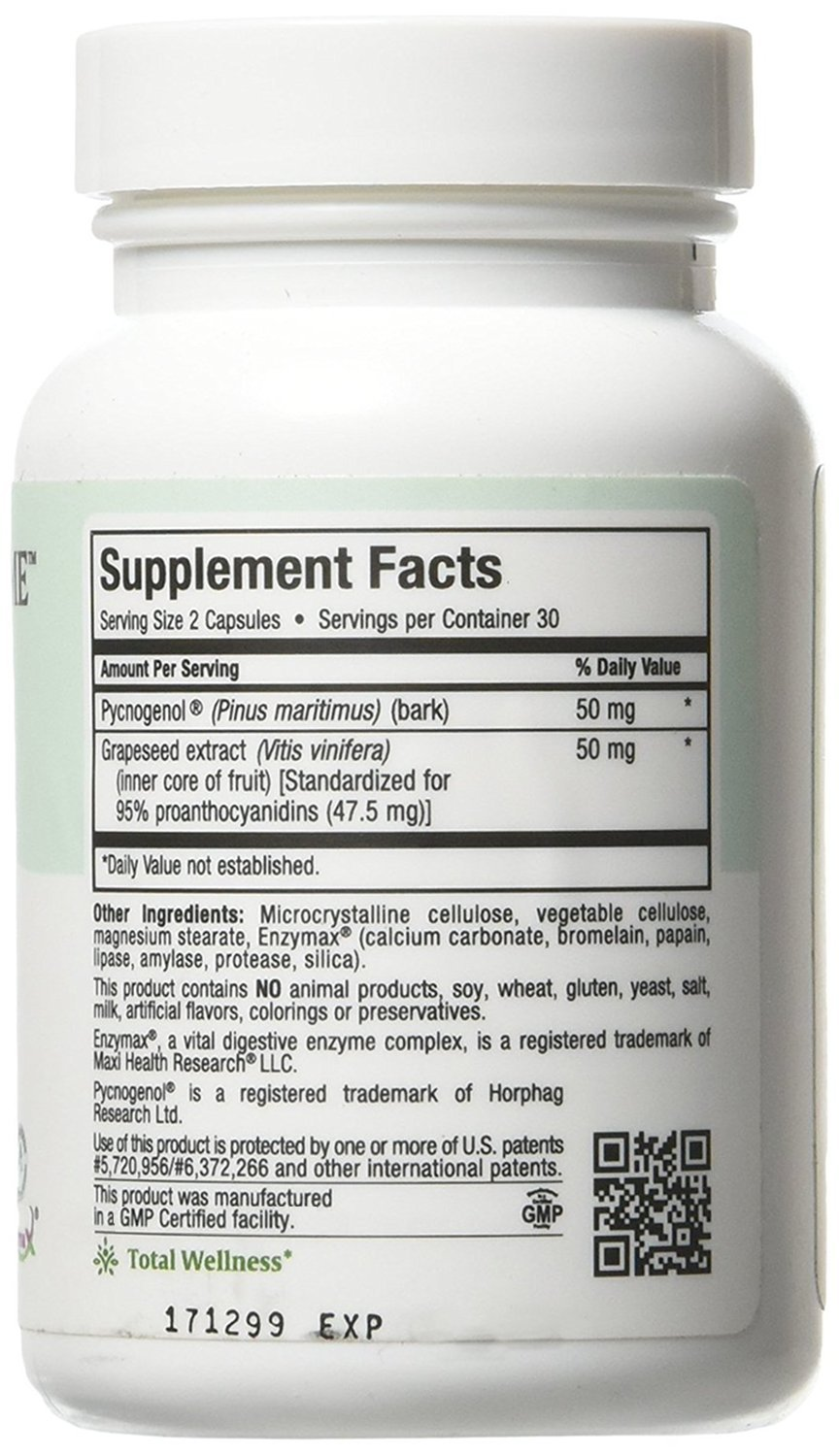 Amazon Com Maxi Health Pycnogenol Supreme With Grapeseed Extract
