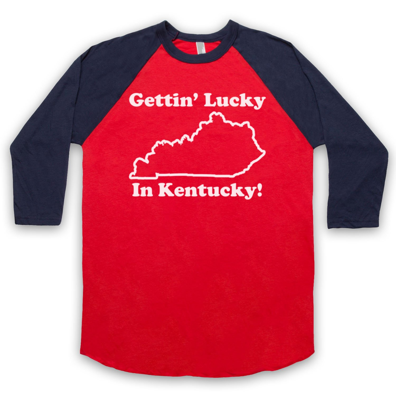 Inspired by School Of Rock Gettin' Lucky In Kentucky Unofficial 3/4 Sleeve Retro Baseball Tee