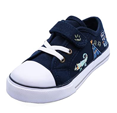 a681f35d0dee2 Boys Kids Childrens Black Dinosaur Canvas Plimsolls Pumps School Nursery Trainers  Shoes Infants Sizes 4-12: Amazon.co.uk: Shoes & Bags