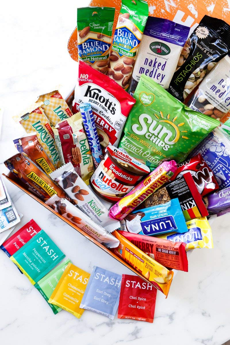 HANGRY KIT - Woman kit - Care Package - Gift Pack - Variety of 42 Bars, Teas, Candies,Cookies and other Snacks Included - 100% Guaranteed by Hangry Kit (Image #2)