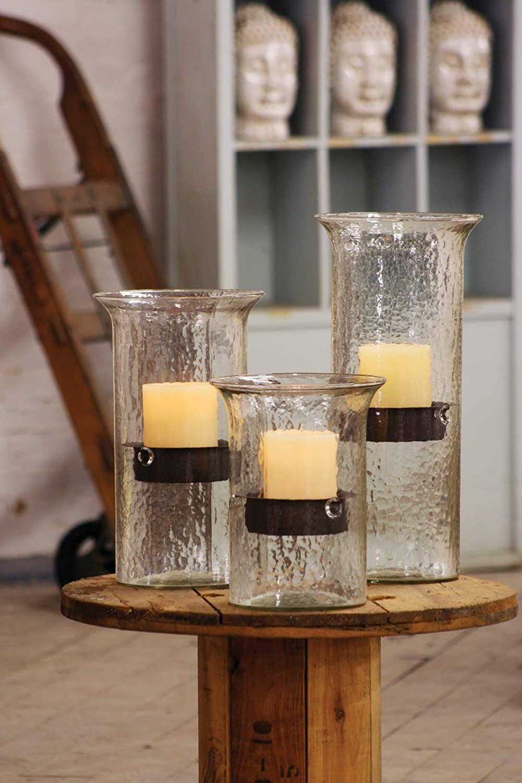 KALALOU Original Glass Large Candle Cylinder, One Size, Brown