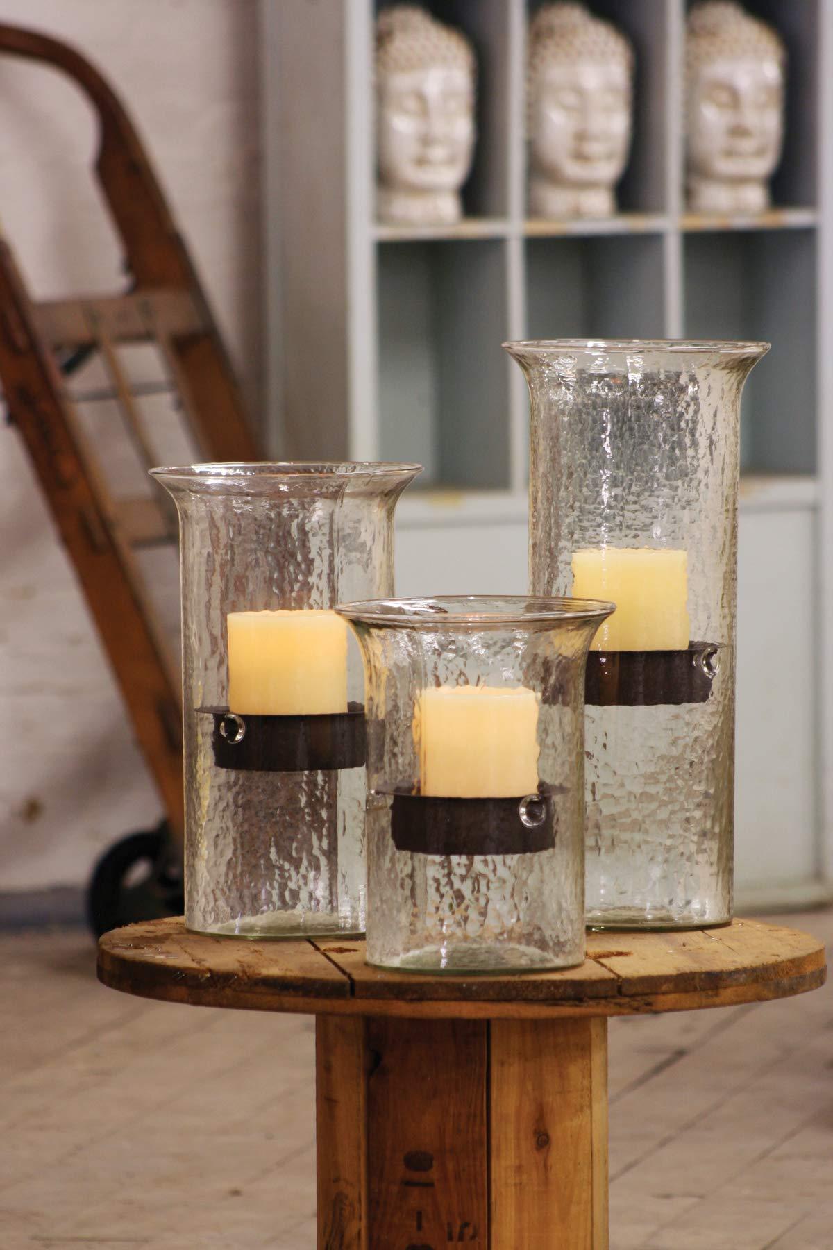 Kalalou Original Glass Medium Candle Cylinder, One Size, Brown