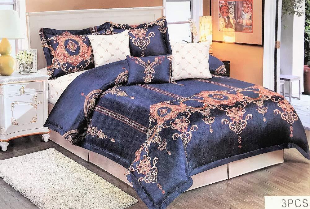 King Size LAZZARO goldbold pflegeleicht Multi doppelt Baumwollmischung bügelfrei Bettbezug-Set