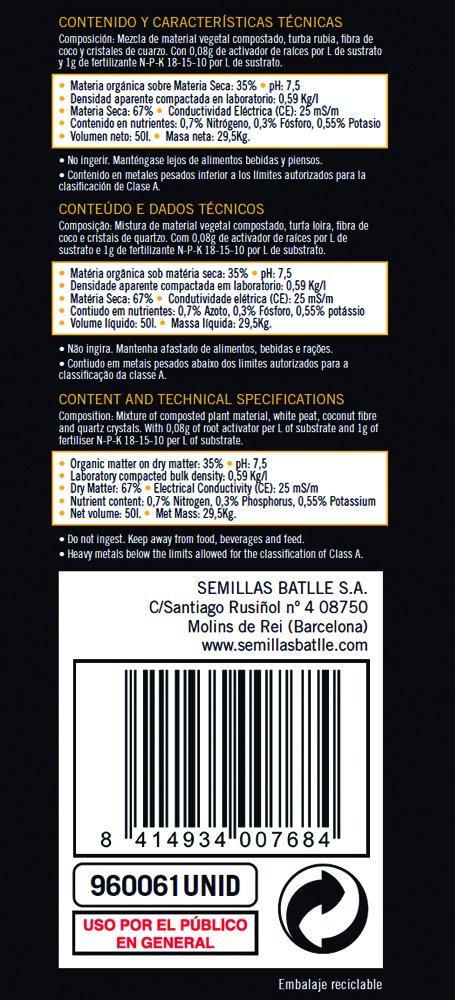 Amazon.es: Semillas Batlle: Sustratos
