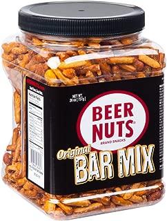 product image for BEER NUTS Original Bar Mix - 26 oz Resealable Jar, Pretzels, Cheese Sticks, Sesame Sticks, Roasted Corn Nuts, and Original Peanuts
