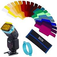 Selens SE-CG20 Universal Speedlite 20 Piezas, Flash Gels Filter Kit Juegos de Filtros de Geles Combinación de Filtros de…