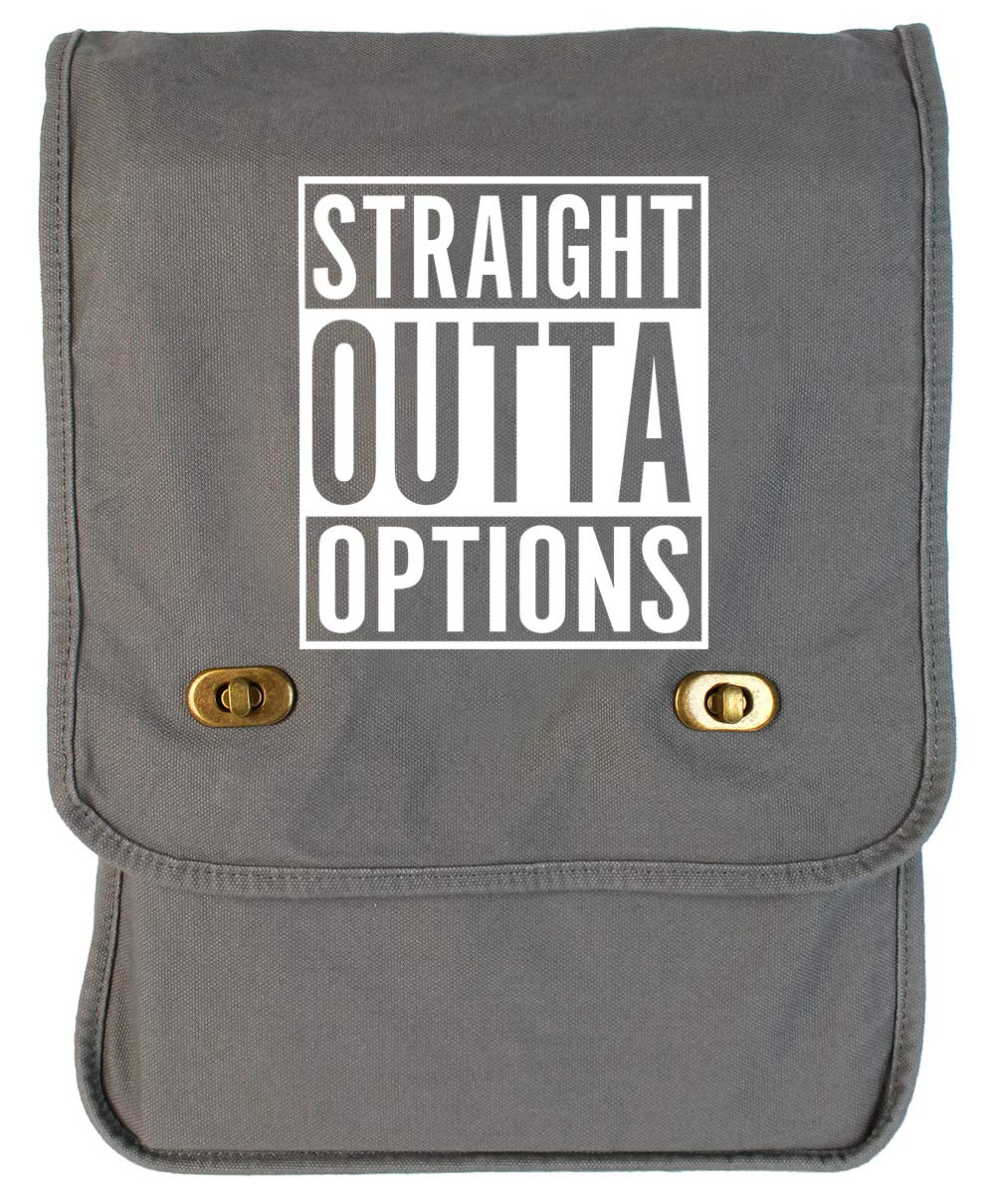 Tenacitee Straight Outta Options Grey Brushed Canvas Messenger Bag