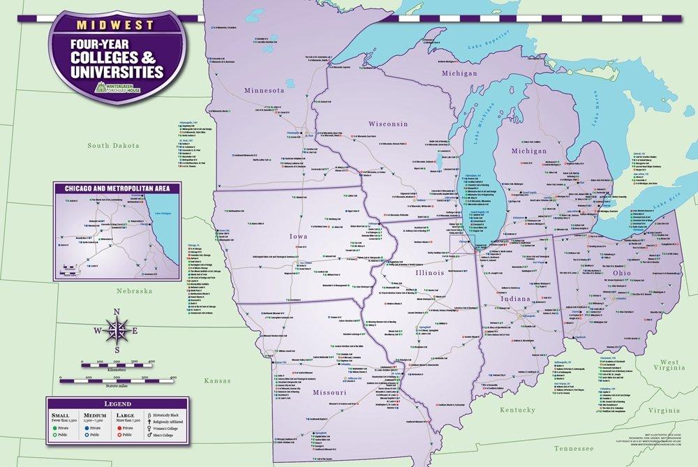 College Locator Maps: Amazon.com: Industrial & Scientific