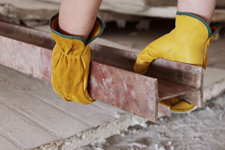 EINSKEY 2 Pares Guantes de Jardiner/ía y Trabajo Piel Resistentes para Hombre Mujer Impermeables y C/ómodos,Amarillo Talla 8 a 10
