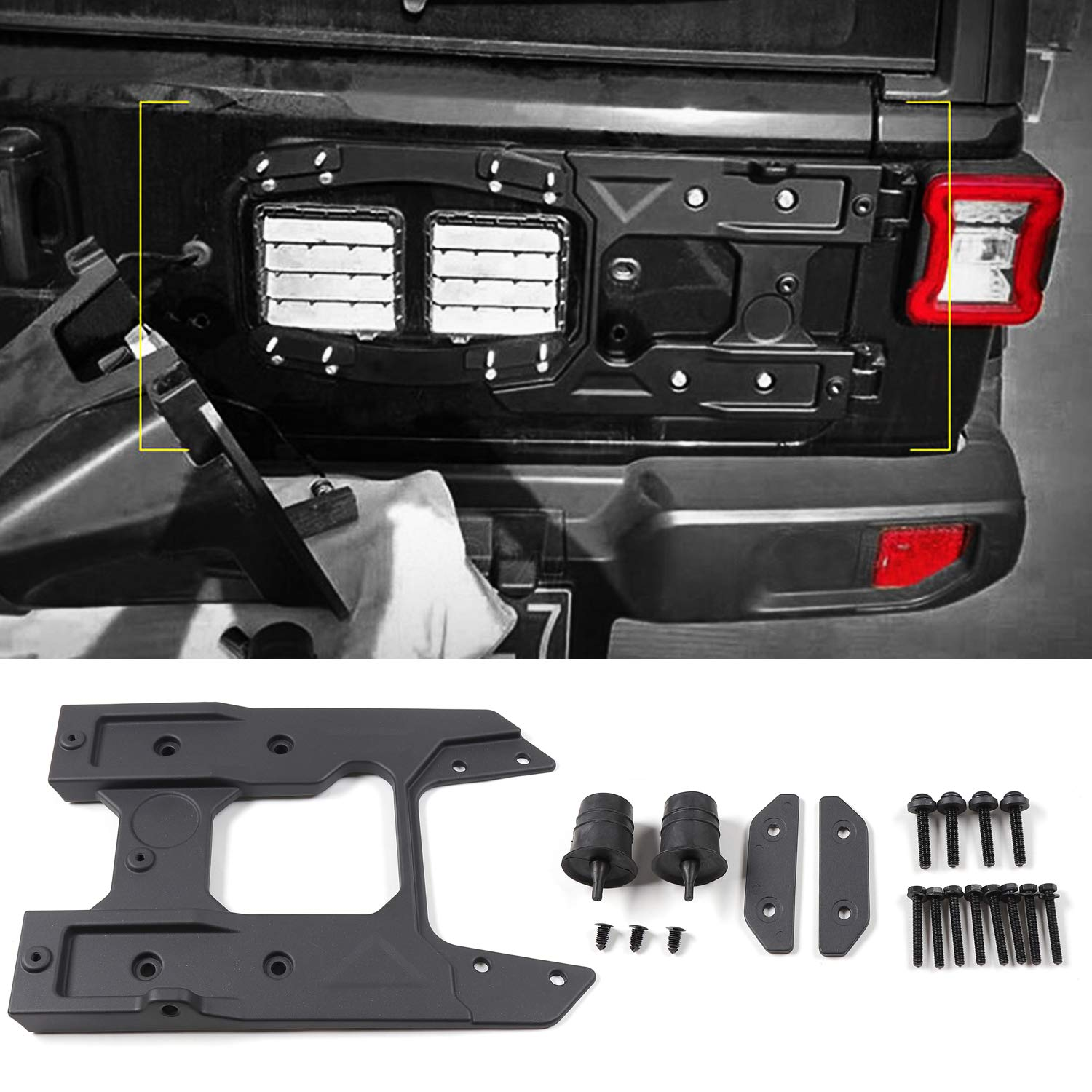 RT-TCZ for Jeep Wrangler JL Oversized Enhance Spare Tire Mounting Bracket Kit Jeep JL Accessories for 2018-2020