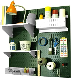 product image for Wall Control Pegboard Hobby Craft Pegboard Organizer Storage Kit with Green Pegboard and White Accessories