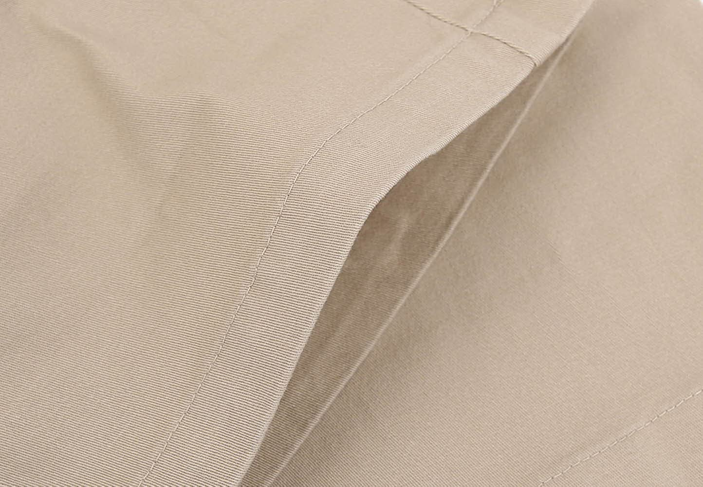 Bienzoe Girls School Uniforms Cotton Stretchy Twill Adjust Waist Flat Front Pants