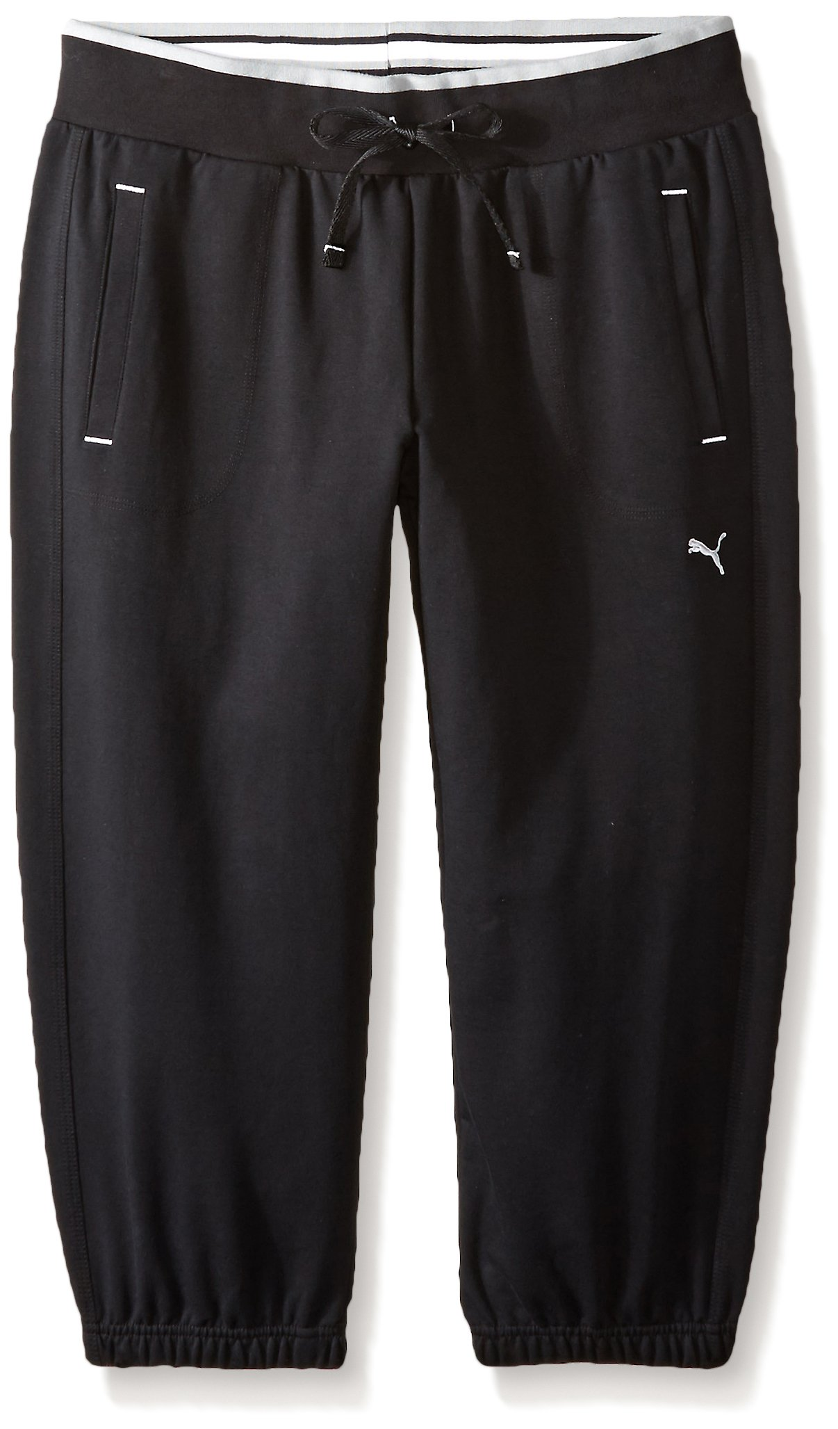 PUMA Women's Sweat Capri, Black, X-Large