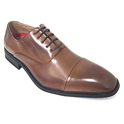 G-FLORS Mens Dress Shoes Modern Oxford Shoes Derby Captoe Lace Up Wingtip Casual | Oxfords
