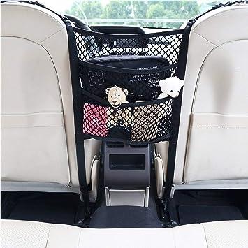Rosetor 1 X Auto Netz Aufbewahrungsnetz Auto Rücksitz Organizer Tasche Für Haustiere Kinder Barriere 25 X 30 Cm Auto