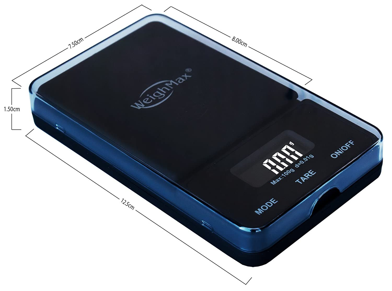 Amazon.com: Weighmax NJ100-BLACK Dream Series Digital Pocket Scale, 100 by 0.01 g, Black: Kitchen & Dining