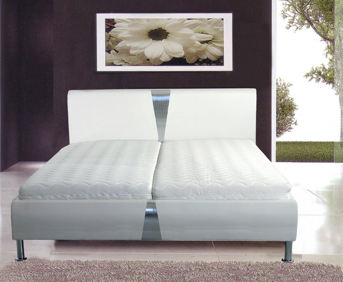 Design Bett Nizza+. Posterbett 180x200 cm, Bettgestell weiß ...