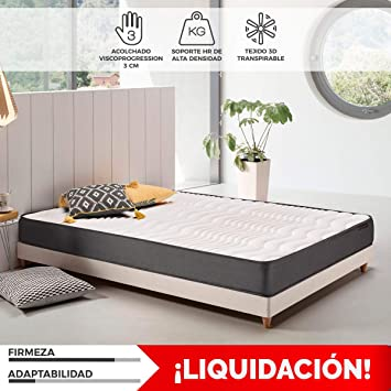 Komfortland Colchon visco Memory Dream 170 con 4 cm Viscosensitive, Altura 17cm, Medida 90x200 cm: Amazon.es: Hogar