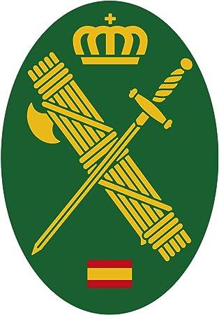 Artimagen Pegatina Oval Logotipo Guardia Civil 45x65 mm.: Amazon ...