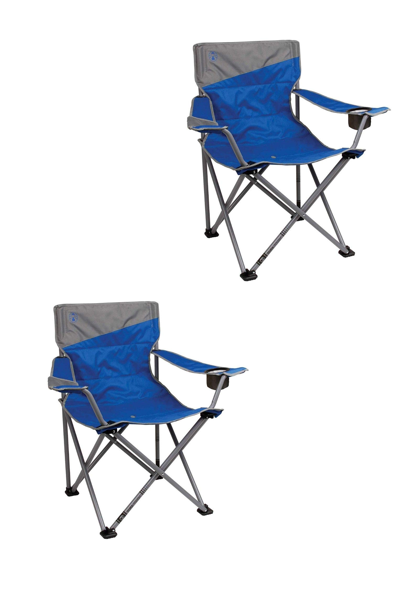 Coleman Big and Tall Portable Folding Camp Chair (Pack of 2)