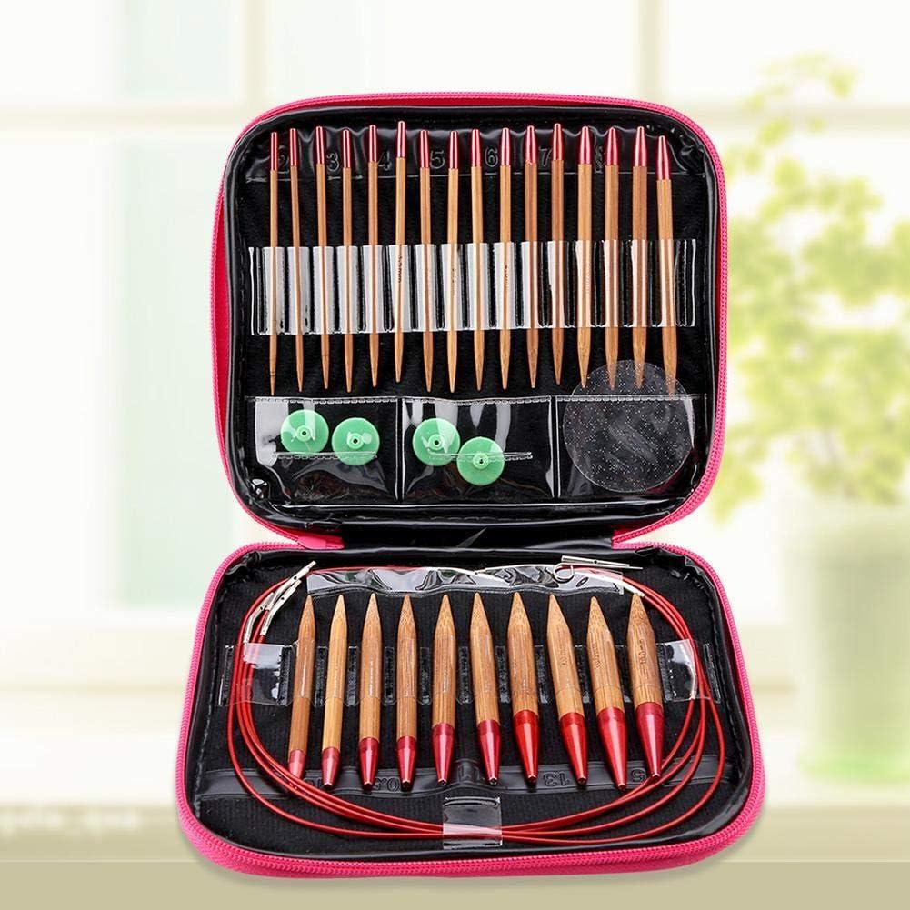aiguilles de bambou carbonis/ées interchangeables Ensemble daiguilles /à tricoter circulaires