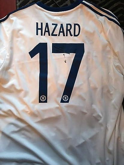 best sneakers c15c9 4d0cb Chelsea Fc Eden Hazard Autographed Signed Memorabilia Epl ...