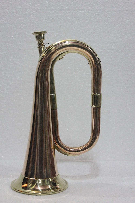 SC EXPORTS Civil War Era Solid Copper Bugle US Military Cavalry Horn
