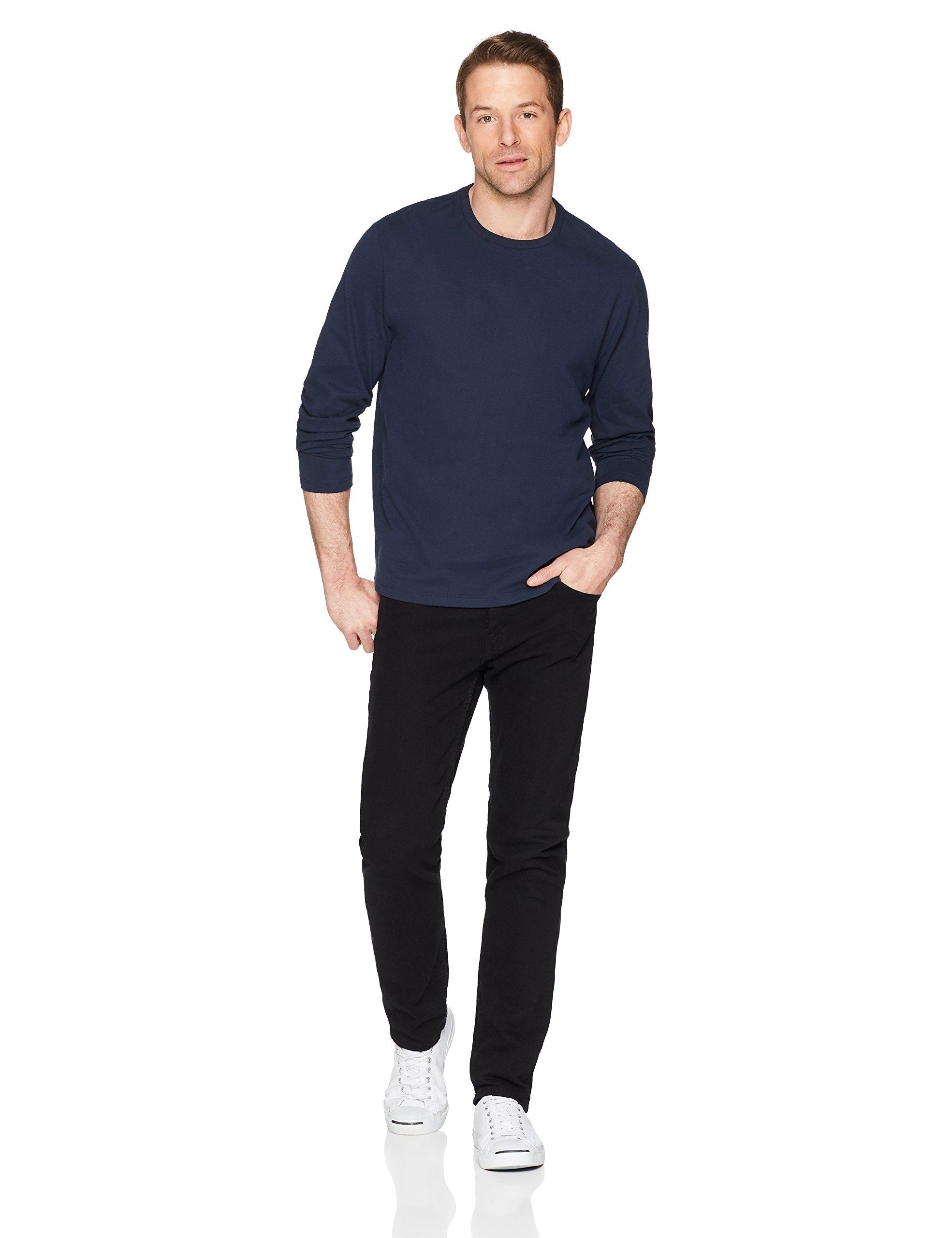 Amazon Essentials Men's Regular-Fit Long-Sleeve T-Shirt, Navy, Medium by Amazon Essentials (Image #2)