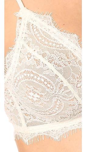 2fad802cbb88 ANINE BING Women's Lace Bra with Trim at Amazon Women's Clothing store: