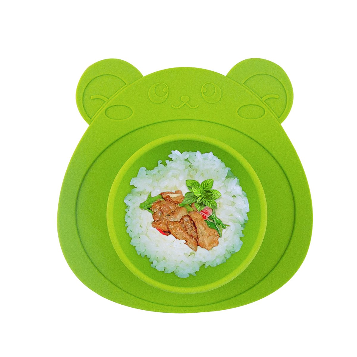 URSMART Toddler Plates, Suction Plates,One-Piece Baby Plate for Babies Toddlers and Kids, Portable BPA-Free FDA Approved Strong Suction Plates for Toddlers, Dishwasher and Microwave Safe Silicone