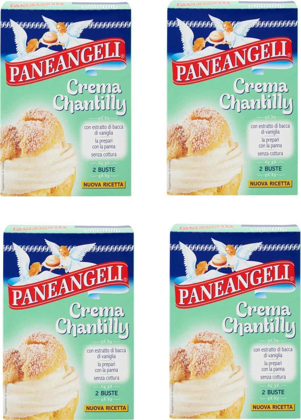Paneangeli Crema Chantilly Pastry Cream Powder Mix 2.82oz 80g, Pack of 4