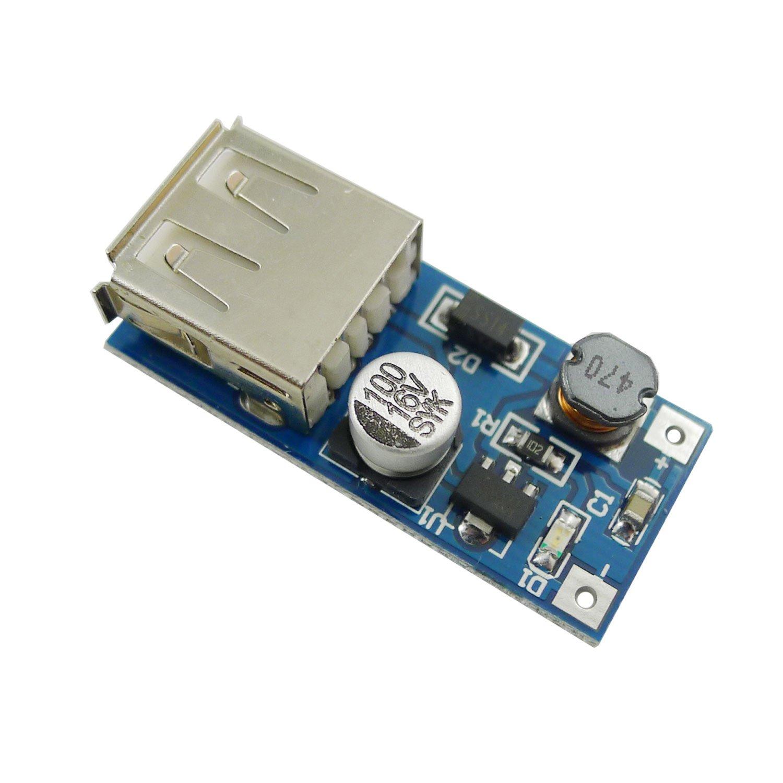 Aihasd USB 600mA 0.9V-5V zu 5V Charger Modul Step-Up Boost DC-DC Konverter