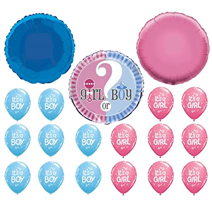a3f910697 Party Propz New Baby Shower Combo (2 Pink + 2 Blue Plain Round Foil ...