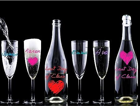 MARCADORES DE COPAS DE VINO-8 Marcadores-Sirven para Cerámica-Personalice las Bebidas de Invitados