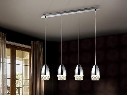 Schuller Alessa 4 Light Crystal Bar Deckenanhanger Chrom G9 Amazon De Beleuchtung