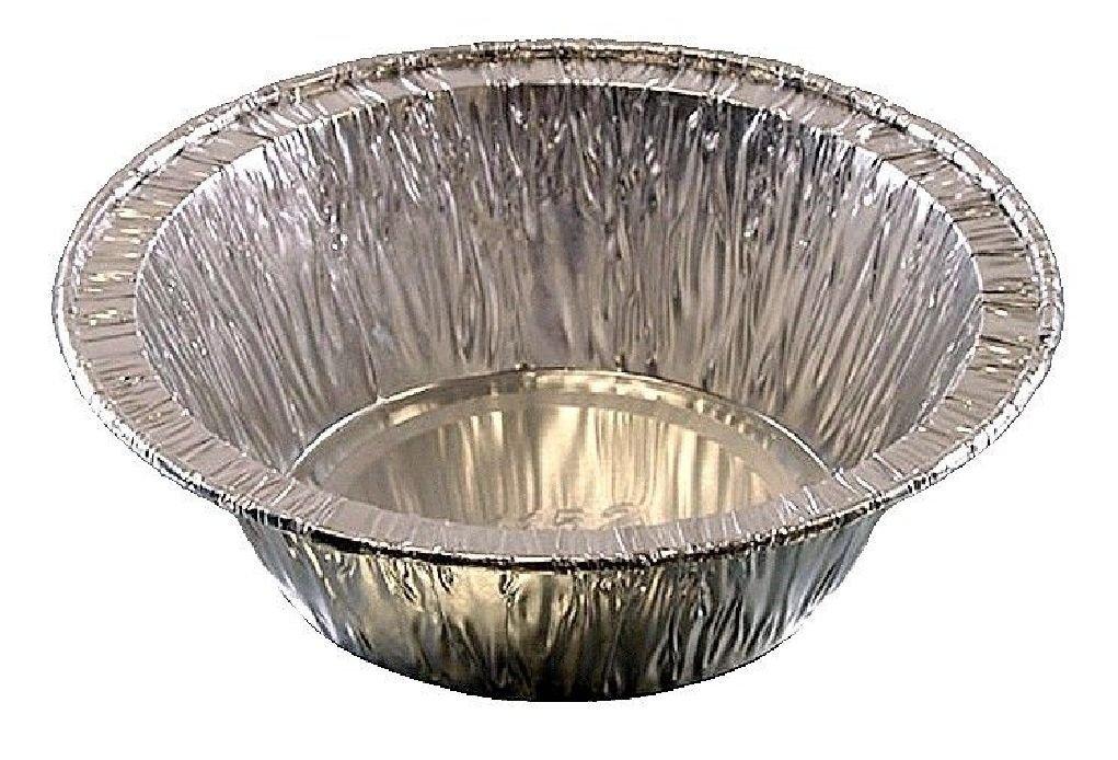 4'' Aluminum Foil Pot Pie Pan 1.4'' Deep Disposable Baking Tart Tins