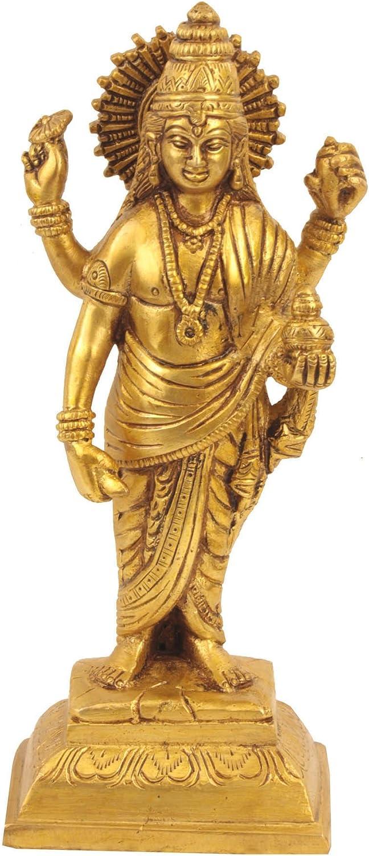 Gangesindia Lord Manufacturer regenerated product Luxury goods Dhanvantari Brass Statue