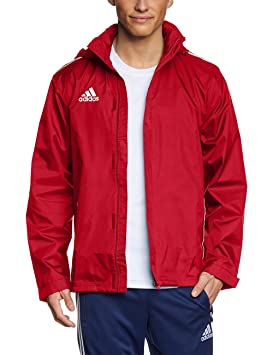 6b574f5f2546 adidas Men s Core11 Rain Jacket - Uni Red White