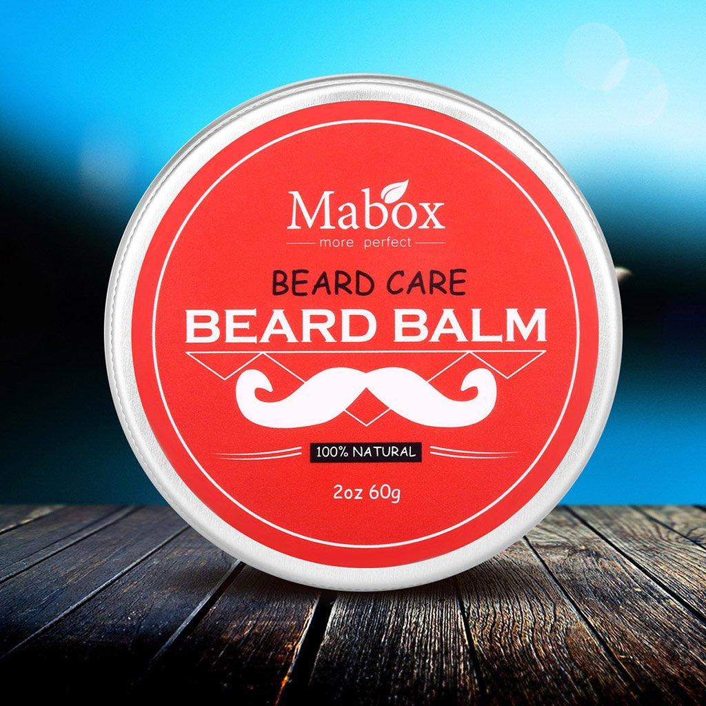 MagiDeal Men Beard Balm Moisturizing Facial Hair Styles Softens Mustaches Wax Conditioner Grooming Cream non-brand