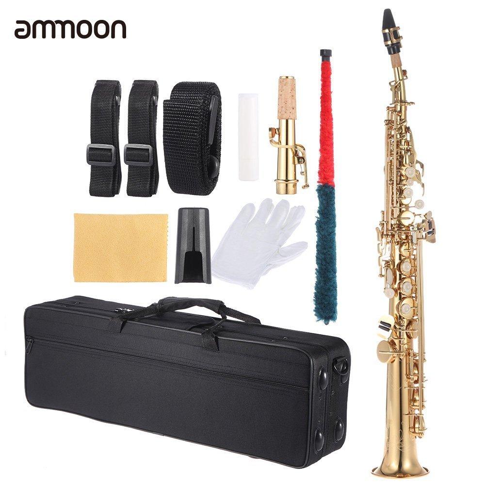 Recta de Latón Soprano Sax Saxofón Bb B Flat
