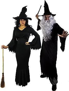ILOVEFANCYDRESS - Disfraz de pareja de bruja y mago para adultos ...